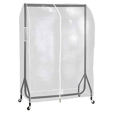 Qualität Klar Reiserollständer Schutzhülle transparent Kleiderstange Hülle 3Ft 4ft 5ft 6ft, For 2ft Long (Schutzhülle Für Kleiderständer)