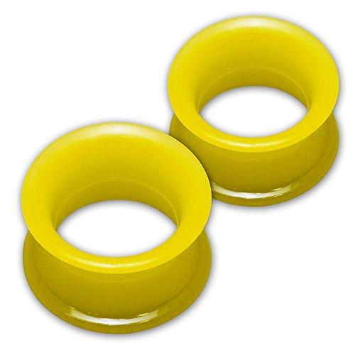 Fly Style 1 Paar Silikon Tunnel Plug Extra Weich 10 Farben (4-30 mm), Grösse:12 mm, Farbwahl:gelb Gelbe 10