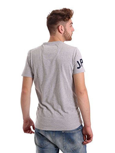 Superdry T-Shirt Men WORK WEAR OVER DYED Fig Marl Grey