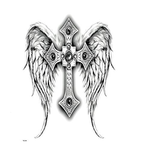 Ruofengpuzi 5pc ala croce impermeabile tatuaggio temporaneo abbigliamento per angelo ala body art tattoo tatuaggio di modo degli uomini delle donne