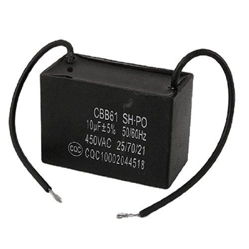 condensatore CBB61 - SODIAL(R) 10 uf 10MFD 450VAC 50/60Hz 2 di ventilatore linea condensatori ccbb61