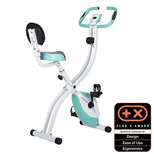 Ultrasport Heimtrainer F-Bike 200B mit Handpuls-Sensoren, mit Rückenlehne, faltbar, Heimtrainer, Fitness Fahrrad mit Trainingscomputer, Fahrradtrainer, Ergometer, Fitness Bike, blau