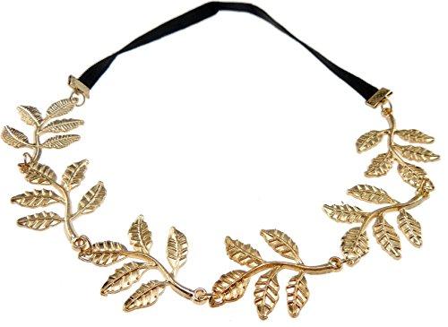 Glamour Girlz Vintage en métal Motif branche d'olivier massif style bohème Motif Serre Tête Bandeau Elastique Cheveux