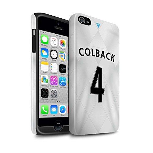 Offiziell Newcastle United FC Hülle / Glanz Harten Stoßfest Case für Apple iPhone 4/4S / Pack 29pcs Muster / NUFC Trikot Away 15/16 Kollektion Colback