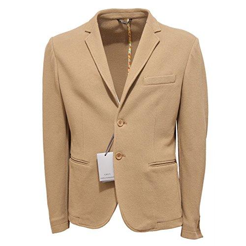 0040R giacca uomo DANIELE ALESSANDRINI GREY cotone beige jacket men [48]