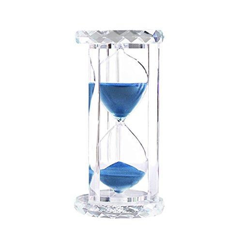 Kristall Sanduhr 60 Minuten Sanduhren zum Messen der Zeit - Kreativität Dekoration - Weihnachtsgeschenke für Männer Frauen Freunde Kinder Geburtstag (60 min, Blau)