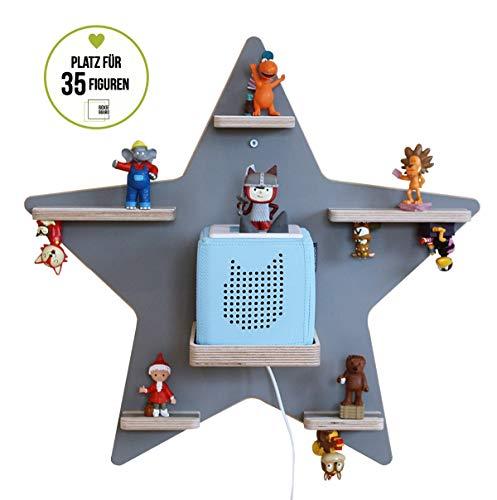 BOARTI Stern, grau - das Regal für die Musikbox1005 -