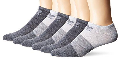 adidas Agron Socken Herren Originals blockiert Space Dye 6Pack No Show Socken, Herren, Grey-Grey/Onix Space D