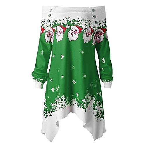 TWIFER Weihnachten Pullover Zipper Dots Print mit Kapuze Sweatshirt Bluse