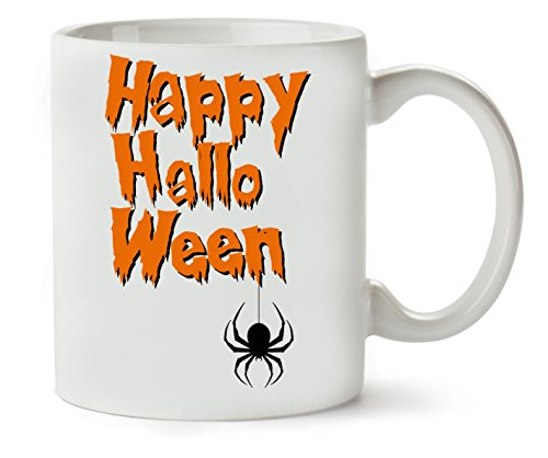Happy Halloween Orange Letters Spider Klassische Teetasse Kaffeetasse