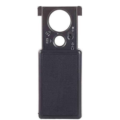 Ausziehbares Vergrößerungsglas 30 Mal Multifunktionshandgerät 20 Mal Mini mit Licht Pull Portable...