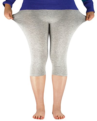 Azue Damen Leggings Weiß