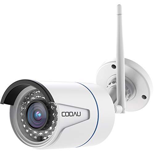 COOAU 1080P Telecamera IP Camera Wifi Wireless Videosorveglianza Esterno HD Telecamera di Sicurezza Home con Cavo di Alimentazione 3M, Supporta iOS Android PC Windows Vista a Distanza e di Controllo