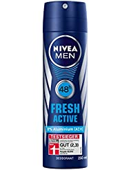 Nivea Men Deo Fresh Active Spray, 6er Pack (6 x 150 ml)