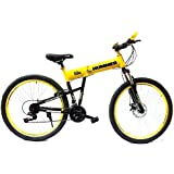26 Inch Hummer Folding Bicycle, Yellow