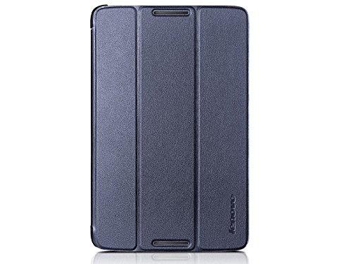 Lenovo Ultra Slim PU Schutzhülle für Lenovo A8-50 Tablet (8 Zoll) mit Standfunktion  inkl. Displayschutzfolie, dunkel blau