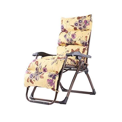DBCSD Liegestuhl Patio Liegestuhl, Schwerelosigkeit Chaise Klappstühle Outdoor Einstellbare Liege Strand Camping Tragbaren Stuhl Mit Kissen (Farbe: C, Größe: Unterstützt 200 kg) -