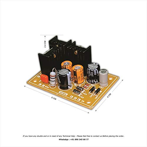 WEON Mini Regulated +5V, +12V, -12V Power Supply - Updated Version 2.0 ( Suitable for All Types of Bass Treble, Sub Woofer Pre & USB Mp3 / Bluetooth Modules )