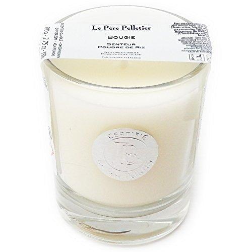 Le Père Pelletier LPP : Bougie Parfumée 15 heures - Parfum d'Ambiance pour Maison Intérieur (Poudre de Riz)