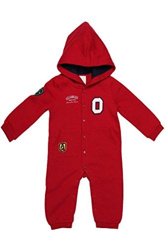 oceankids-bb-garons-bbs-filles-rouge-combinaison-en-jersey-capuche-emmanchures-cteles-bouton-pressio
