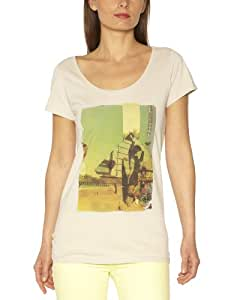 O'Neill Etta T-Shirt manches courtes femme Peyote Beige FR : 40 (Taille Fabricant : L)