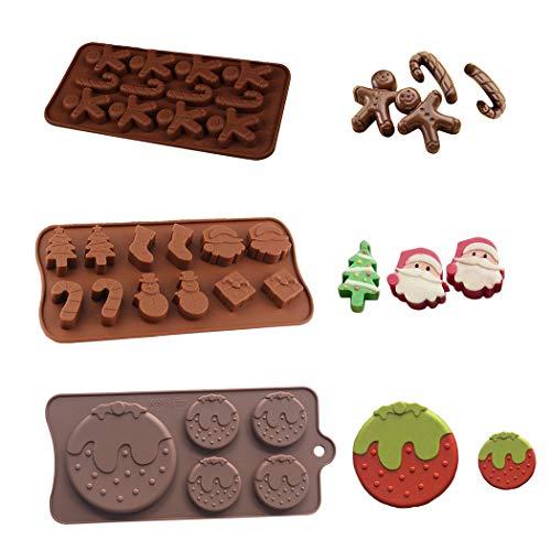 Navidad silicona chocolate fondant moldes Santa Claus