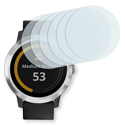 GOLEBO Garmin vivoactive 3 Displayschutzfolie - 6X Displayschutz Schutzfolie Folie Crystal Clear für Garmin vivoactive 3