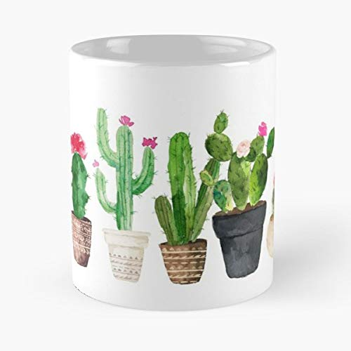 Cactus Succulent Flower Botanical - Best Gift Mugs Desert Green Watercolor Cacti Plant Nature Plants Mug Coffee For Gifts Cup Women Tumbler Best Personalized Gifts