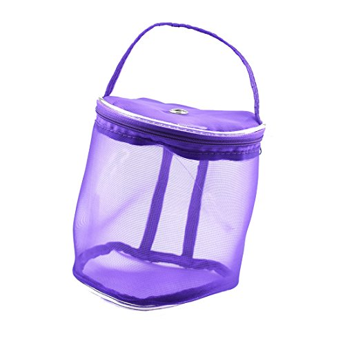 Mesh-wolle-garn (LissomPlume multifunktion Wolle Garn Aufbewahrungstasche Strickgarn Aufbewahrungsbeutel Mesh Tasche - purple 14)