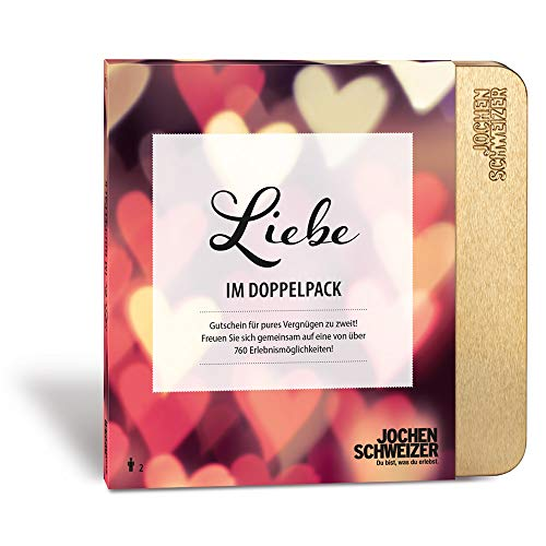 Jochen Schweizer Erlebnis-Box \'Liebe im Doppelpack\', mehr als 760 Erlebnisse für 2 Personen, Paar-Geschenk voller Romantik