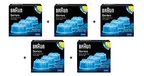 Braun–Pack von 15Refill-Reinigungsflüssigkeit für System Clean & Renew–CCR3X5
