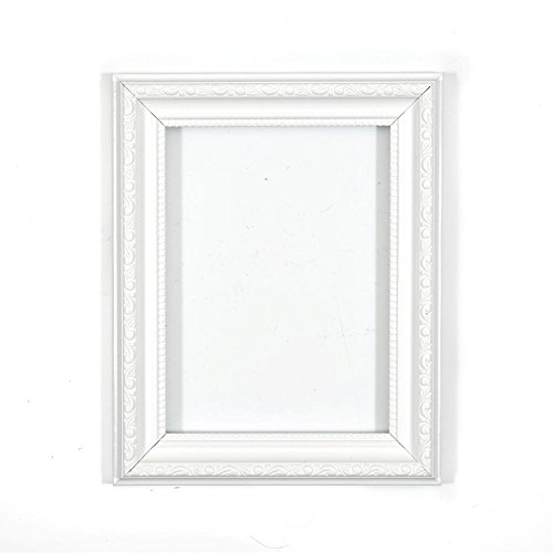 """Verzierter Bilderrahmen im Shabby Chic/ Foto/Posterrahmen - Mit Rückwand aus MDF - Bereit zum Aufhängen - Mit bruchsicherem Plexiglas aus Styrol für hohe Klarheit - Weiss - 16"""" x 12"""""""
