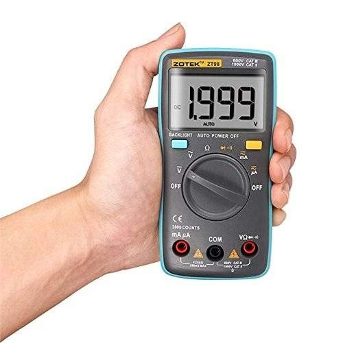 ZT98 Multimen Rücklicht AC/DC Ammeter Voltmeter Ohm Frequency Diode Temperatur Digital Multimeter