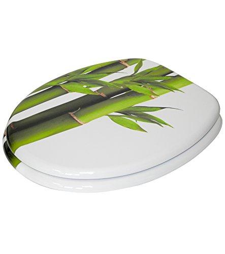 Sanilo WC Sitz mit Absenkautomatik Bambus Grün | hochwertige Oberfläche | einfache Montage | stabile Scharniere   A031622