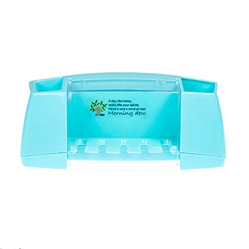 Erreichen Die Kinder Zahnbürsten (zantec Wandhalterung Anti-Staub Zahnbürstenhalter Zahnbürste Aufbewahrung Set multifunktional Zahnbürste Rack Aufbewahrungsbox blau)