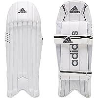 Adidas XT 2.0 - Almohadillas de críquet para niños (protección de piernas), Color Blanco y Negro, Color Blanco, Negro y Plateado, tamaño niños