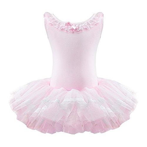 Seiltänzerin Kostüm - iEFiEL Kinder Mädchen Balletkleid Volants Ausschnitt