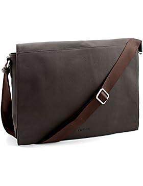 Bovari echt Leder Messenger Bag Umhängetasche Schultertasche Laptoptasche Notebooktasche (bis 15,6 Zoll) Model...