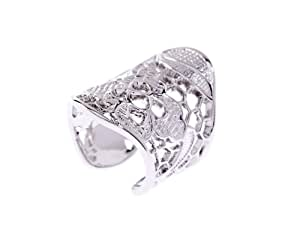 Ted Baker Evalyn Lace Small/Medium Silver Ring- Size M