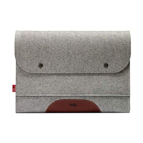 Preisvergleich Produktbild & Smooch, MERINO-Schutzhülle für iPad Air, Grau/Hellbraun