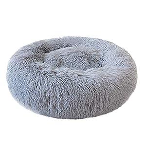 ABenxxou Chien lit, Chaud Tapis de Chien Rond Coussin Grande Taille Panier Lavable pour Chat Animaux de Deluxe Moelleux Lit pour Animal