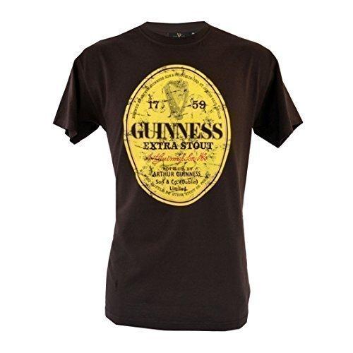 brun-guinness-delave-label-t-shirt-s-xxl-marron-marron-l