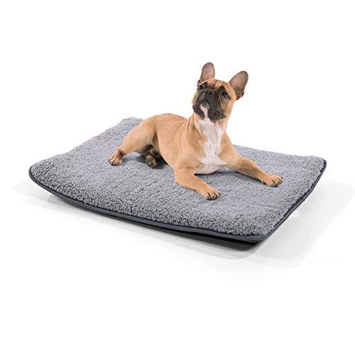 brunolie Finn kleine Hundedecke waschbar, hygienisch und Rutschfest, Hundematte, passend für die Rückbank im Auto in Grau, Größe S
