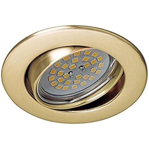Wonderlamp W-E000022 Basic Basic - Foco empotrable redondo basculante 30º, color oro viejo