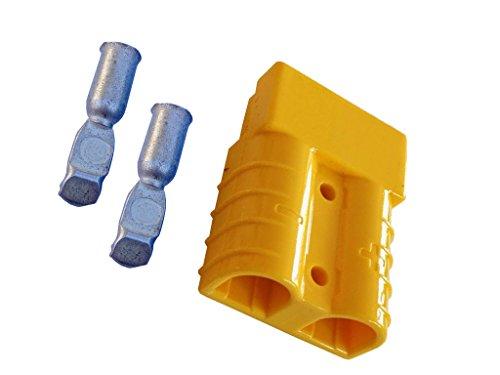 Batterie Stecker 50A 10 mm2 gelb Steckverbinder für Gabelstapler Kabel 50a Kabel