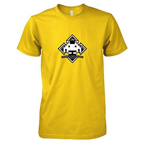 TEXLAB - Retro Squad - Herren T-Shirt, Größe XXL, gelb