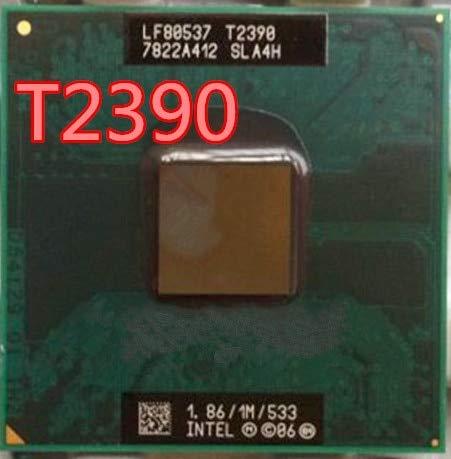 DIPU WULIAN Pentium Dual Core T2390 t2390 1.86GHz/ Notebook Processors Laptop CPU Socket P 478 pin Computer can Work 1.86 Ghz Notebook