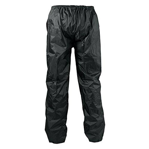 A-Pro Pantaloni Antipioggia Impermeabili Antiacqua Anti Vento Foderato Moto Nero L
