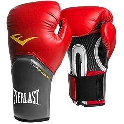Everlast-Guantes de Boxeo Elite Pro Style Negro Rojo Azul Blanco Rosa 810121416oz, Rojo