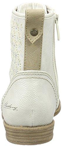 Mustang 1157-543-203, Bottes Classiques Femme Blanc Cassé (203 Ice)